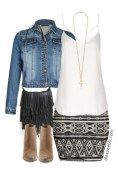 Plus Size Outfit Idea - Tribal Rock