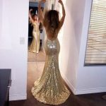 Sparkly High Quality Prom Dresses,Mermaid Prom Dresses,Gold Sequin Prom Dresses,Backless Prom Dresses,Sexy Prom Dresses,PD390083 from hilldressing