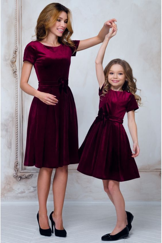 10 Cutest Mom And Baby Christmas Dress Matching Pair