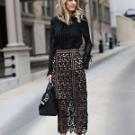 12 ways to wear a black lace skirt outfit from morning to evening