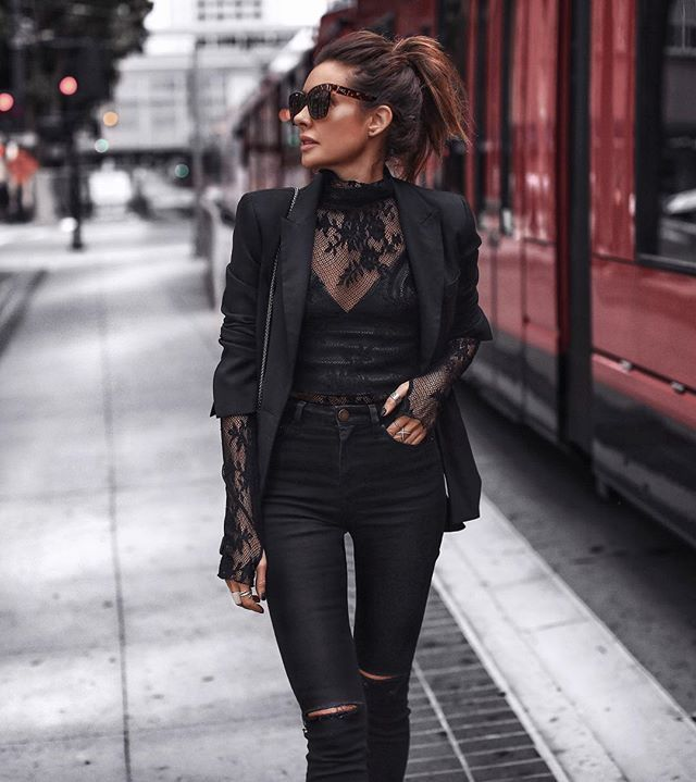15 Black Lace Tops To Buy Now