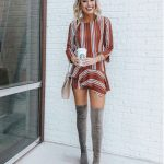 17+ Over The Knee Boot Outfit Looks To Get Inspired By: Styling grey over the kn...