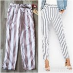 1st Kiss Highwaisted Striped Cigarette Trousers 1st Kiss Highwaisted Striped Cig...
