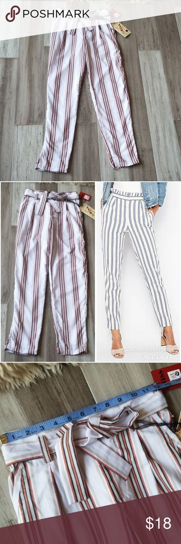 1st Kiss Highwaisted Striped Cigarette Trousers 1st Kiss Highwaisted Striped Cig…