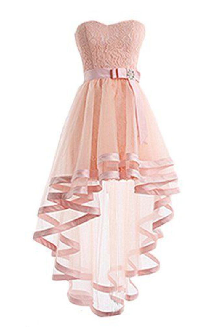 2019 Asymmetrical Sweetheart Cocktail Dresses A Line Tulle & Lace With Sash US$ 139.00 XKKP74EXJT6