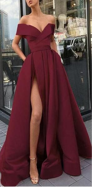 2020 A-Line Elegant Blue Charming Free Custom Long Women Formal Prom Dresse,Evening Gowns with Split , PD0941 2020 A-Line Elegant Blue Charming Free Custom Long Women Formal Prom Dresse,Evening Gowns with Split , PD0941