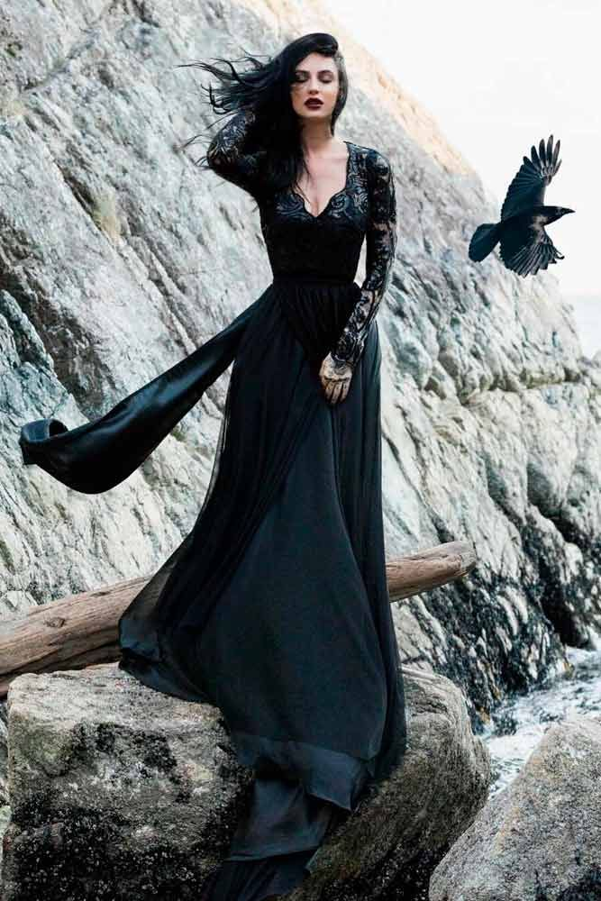 27 Fantastic Black Wedding Dresses To Fall In Love With