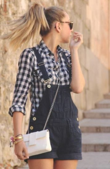 38+  ideas how to wear overalls shorts summer rocks