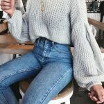 41 Cheap Big,Oversized,Chunky Sweater Outfit Ideas For Fall and Winter