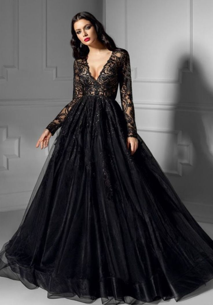 41 Designs of Black Wedding Dress That is Very Charming