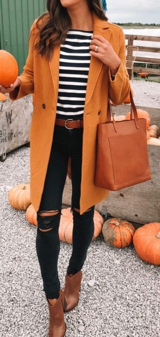 45 Cute Casual Fall Outfits Ideas for women #cuteoutfits #casualoutfits #womenoutfits