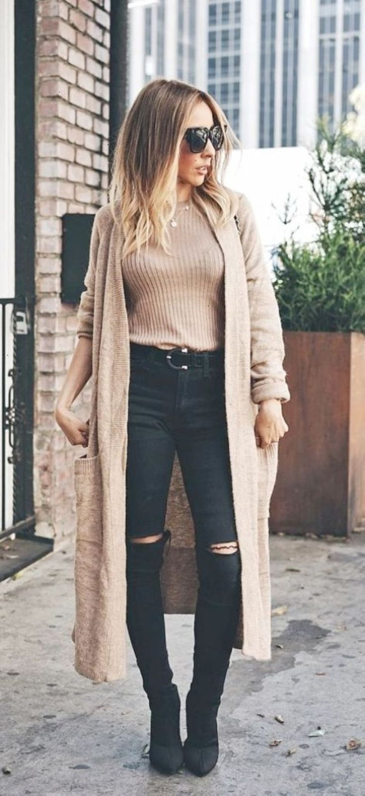 47 Good Selection Fall Outfits with Long Cardigan