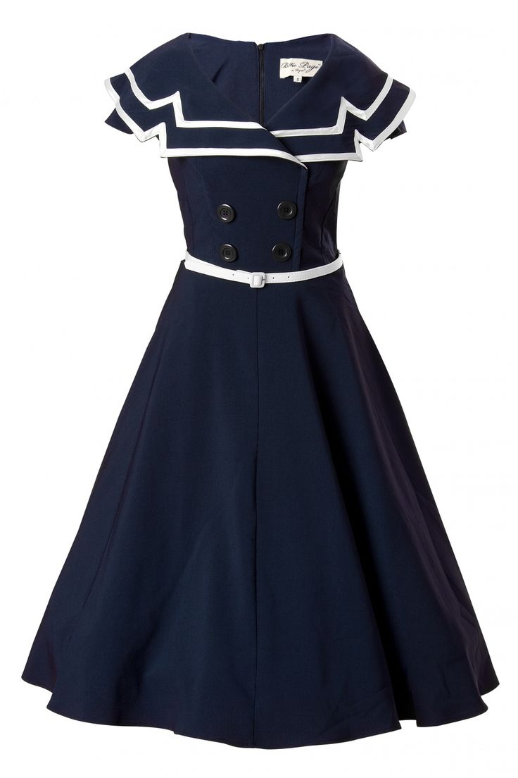 50s Captain Blue Flare dress