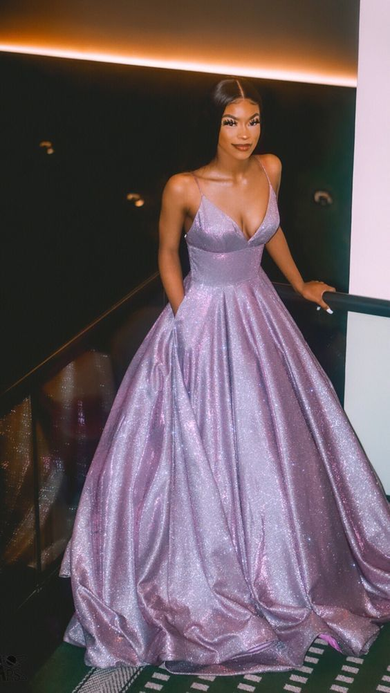 A line prom evening dress , fashion purple occasion dress