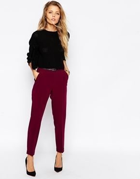 ASOS Cigarette Trouser With Belt –