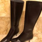 AUTHENTIC Jimmy Choo Dk. Brown Leather Boots Jimmy Choo dark brown leather boots...