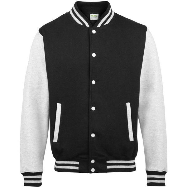 AWDis Hoods Varsity Letterman jacket found on Polyvore featuring outerwear, jack…