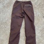 Adidas track pant Women's brown XS track pant never worn. - side hip zip -ankl...