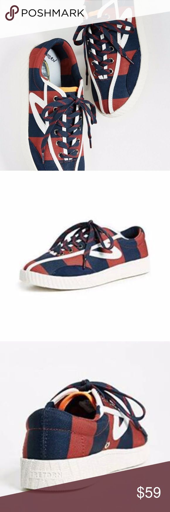 Andre 3000 Benjamin Rugby Stripe Nylite Sneakers Fabric: Canvas Suede panel Stri…