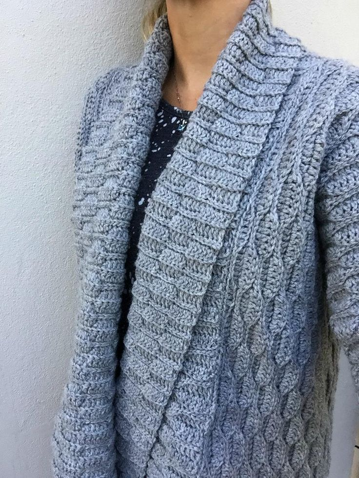 Autumn Leaves Crochet Cardigan Pattern for Women Open Style with Shawl Collar No.925 Digital ePattern Instant Download English