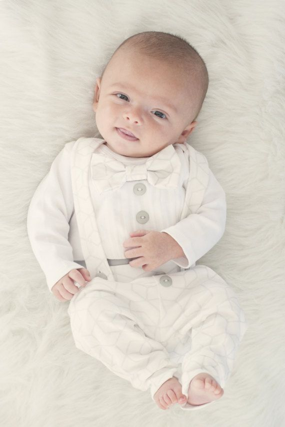 Baby Boy Baptism Outfit – Christening Outfit – Blessing Outfit – Dedication Outfit – Wedding Outfit – Organic Cotton