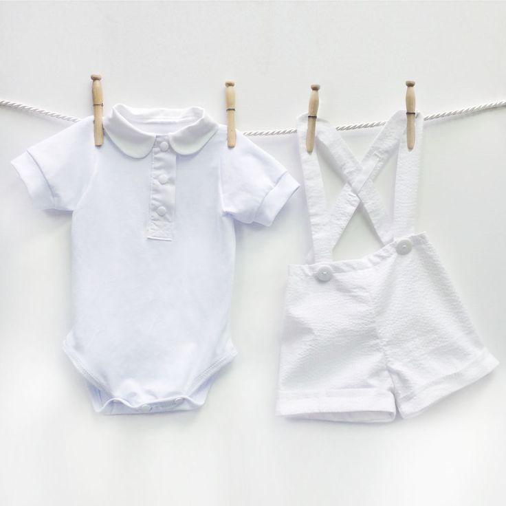 Baby Boy Christening Outfit, Seersucker Suspender Shorts, Dedication Outfit, Baptism Shorts, White Christening Suit, Boy Baptism Outfit