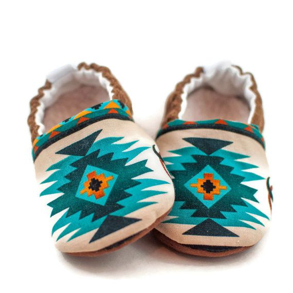 Baby Boy Shoes, Baby Shoes, Baby Girl Shoes, Western Baby Shoes, Tribal Baby Shoes, Teal Baby Shoes, Baby Moccasins