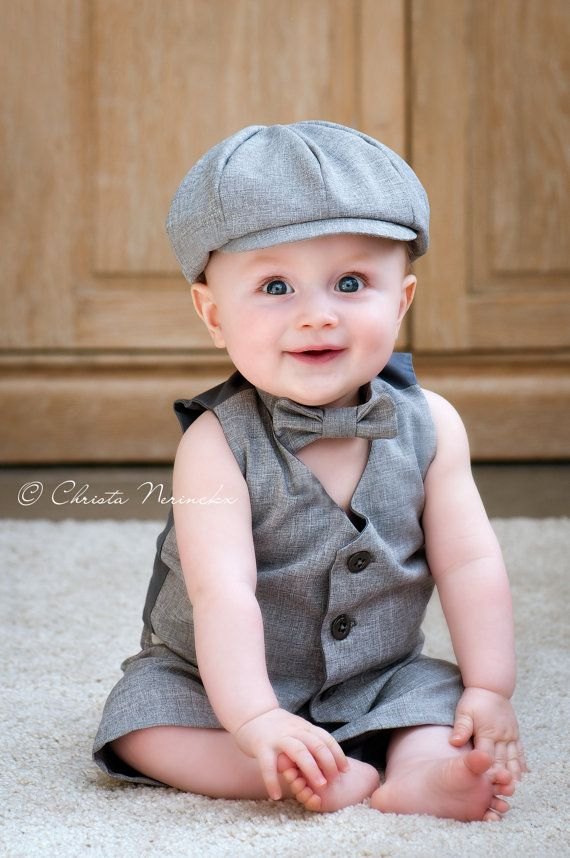 Baby Boy Suit, Ring Bearer Outfit, Baby Boy, Boy First Birthday Outfit, Ring Boy Suit, Page Boy Suit, Grey Suit, Toddler