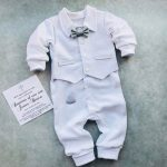 Baby boy blessing outfit, baby boy baptism outfit, newborn boy coming home outfit summer, baby boy christening outfit