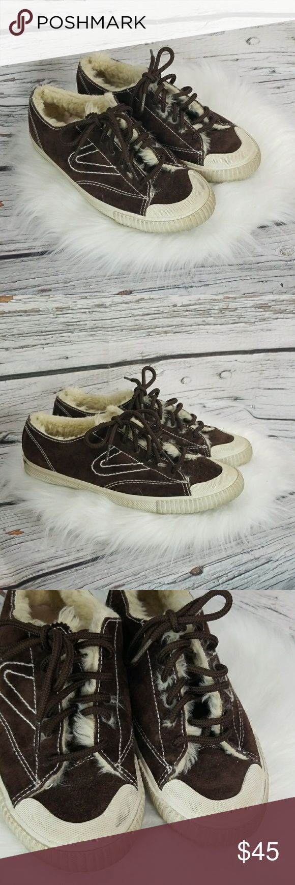 Barely used Tretorn Gull Wing leather fur sneakers size 6.5 barely used good use…