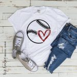 Baseball SVG Fastpitch Tshirt Dad Heart Mom Little League Kids svg dxf png cut file cricut htv silhouette tshirt vinyl clipart Softball
