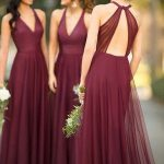 Beautiful V-neck Open Back Sleeveless Long Bridesmaid Dress , SW1004 Beautiful V-neck Open Back Sleeveless Long Bridesmaid Dress , SW1004
