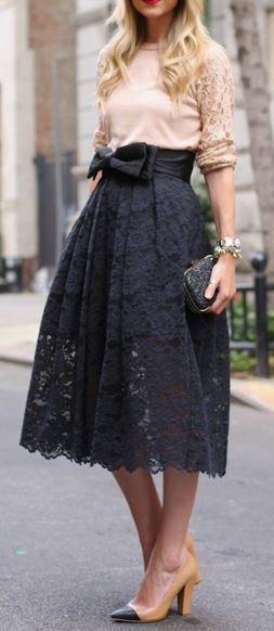 Beautiful lace skirts. Do you like to wear lace pieces?