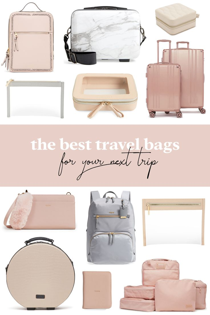 Best Travel Bags, Pretty Luggage, Rose Gold Luggage, Blush Luggage and Travel