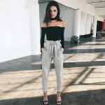 Black Flowy Pants Outfit Style: CasualFront Style: FlatFit Type: RegularClosure ...