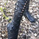 Black Over Knee High Leather Boots