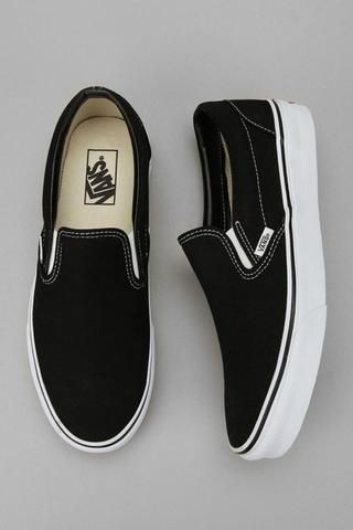 Black / white classic canvas casual shoes