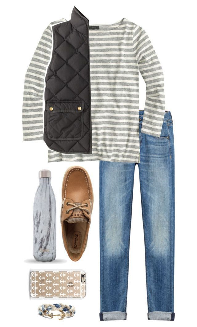 """""""Boatneck and Boat Shoes"""" by lilyhkeville ❤ liked on Polyvore featuring rag & …"""