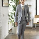 Boys grey wedding suit