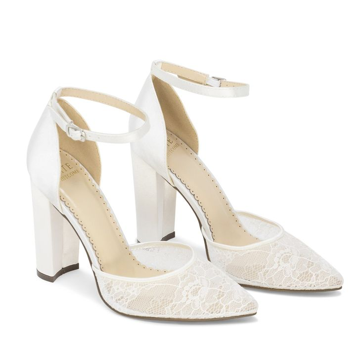 Bride Shoes Lace High Heel – Hailey Ivory