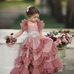 Capped Sleeves Flower Girls Dresses For Weddings Tiered Kids Prom Gowns Lace Girls First Holy Communion Dress Wedding Flower Girls White And Purple Flower Girl Dresses From Liwenhang1688, $73.36| DHgate.Com