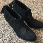 Chinese Laundry boots Black suede ankle boots. 3in heel never worn Chinese Laund...