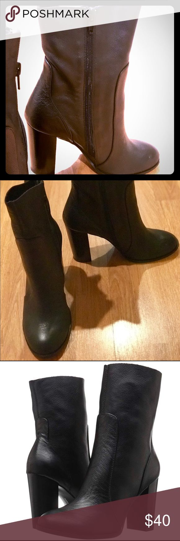 Chinese laundry boots 100% Leather Imported Synthetic sole Shaft measures approx…