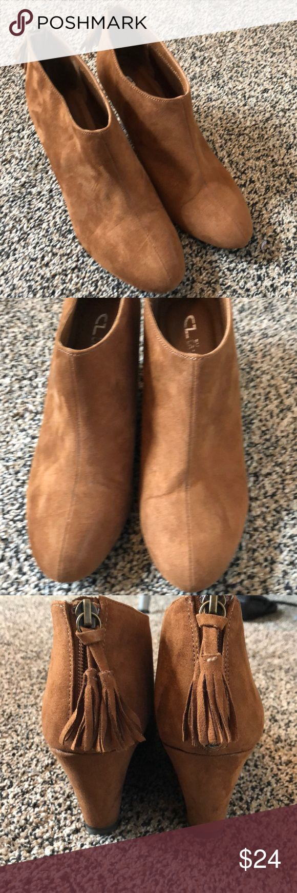 Chinese laundry boots CL boots rust suede never worn 3in heel Chinese Laundry Sh…