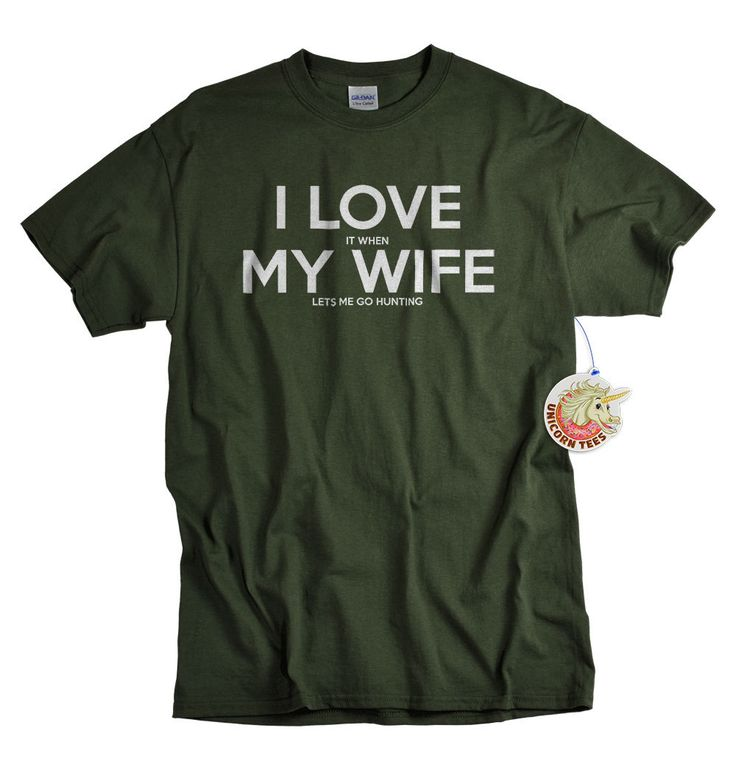 Christmas Gifts for Husband – Mens Gift – Hunting Gifts – Stocking Stuffers for Men – I Love My Wife Shirt
