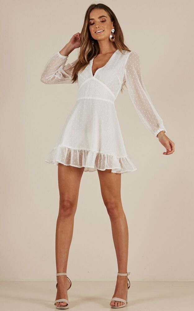 Classic Crush Dress In White Produced
