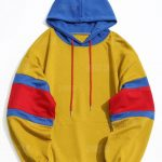 Color Block Kangaroo Pocket Mens Hoodie