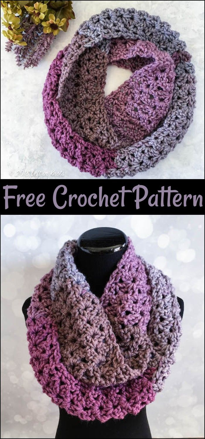 Crochet Infinity Scarf – All Free Patterns