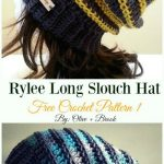 Crochet Slouchy Beanie Hat Free Patterns Tutorials