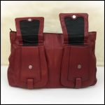 Cromia Deep Red Italian Leather Handbag Beautiful Cromia deep red genuine Italia...